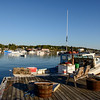 View of Bass Harbor form Thurston Lobster Pond. Bernard, ME