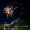 Fireworks Display over Frenchman Bay. BarHarbor, ME