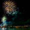 Fireworks Display over Frenchman Bay. Bar Harbor