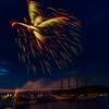 Fireworks Display over Frenchman Bay. BarHarbor, ME