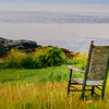 Swing Chair on Monhegan Harbor