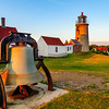 Lighhouse and liberty bell. Monhegan Island