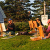 Painters Capturing the Sunset over Monhegan Harbor