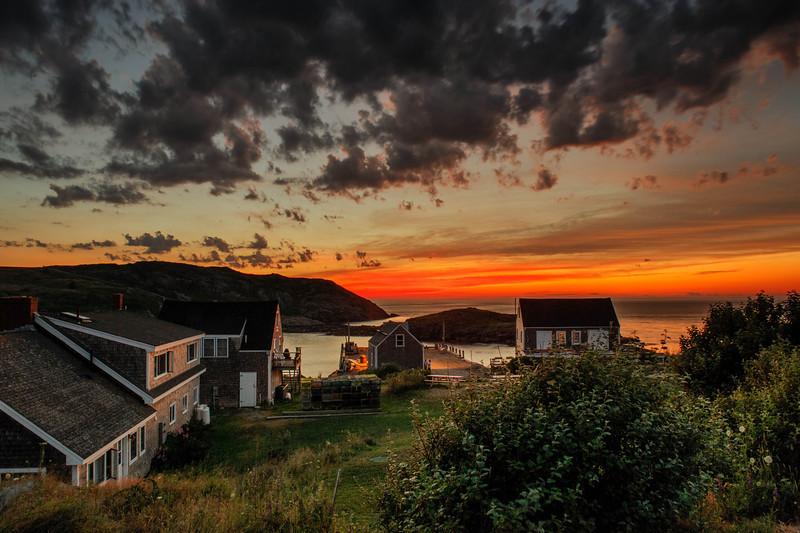 Sunset on Monhegan Harbor