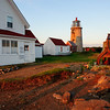 Lighhouse and liberty bell. Monhegan Island, Maine