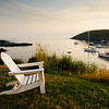 Adirondack Chair on Monhegan Harbor