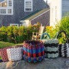 Baskets woven from lobster fishing rope. Monhegan Island, ME