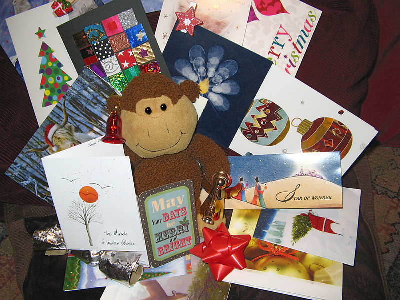 6th January 2013: clearing away the cards and decorations on Twelfth Day