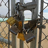 Eight completely useless padlocks.