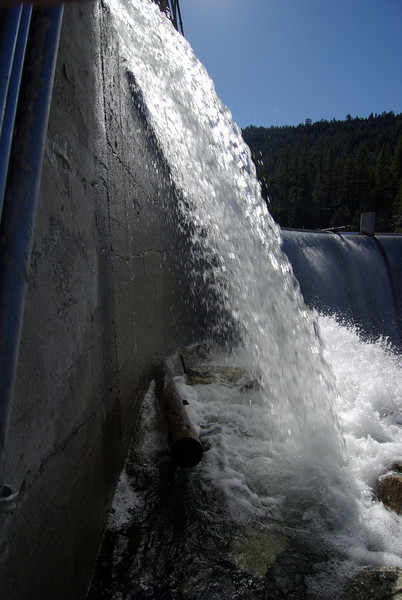The water shoots over the Dam