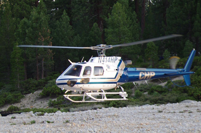 CHP Hellicopter takes-off.