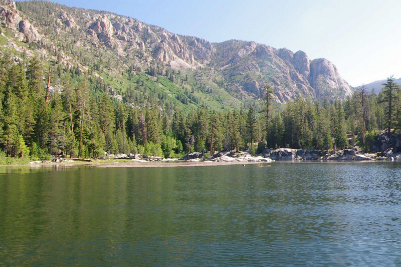 Aproaching the conjested headwaters of Edison Lake.