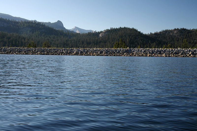 "A look across the dam from about 100 yards out in the Lake.  The sunlit peak in the back brings back memories from my mistakes to summit Mt Hooper in 1997 on my 2nd Hiking Trip.  I mistook this peak for Mt Hooper: <a href=""http://hikenhi.smugmug.com/Davids-Hiking-and/Mt-Hooper-September-1997/10311033_BSBbb#712574887_vGZGM"">http://hikenhi.smugmug.com/Davids-Hiking-and/Mt-Hooper-September-1997/10311033_BSBbb#712574887_vGZGM</a>"