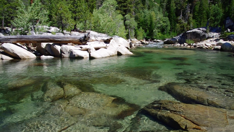 Mono Creek comes into Edison Lake--East Shore Perspective.