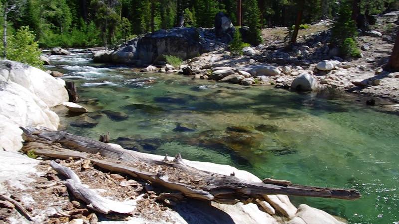 Mono Creek comes into Edison Lake--West Shore Perspective.