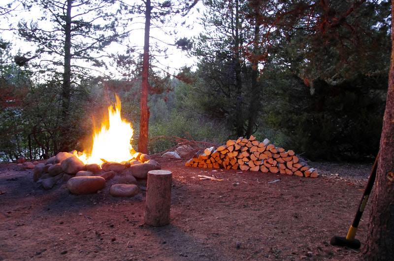 First Night's Campfire and both nights wood supply.