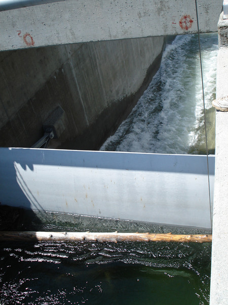 Water Near the Top of Spillway Gate