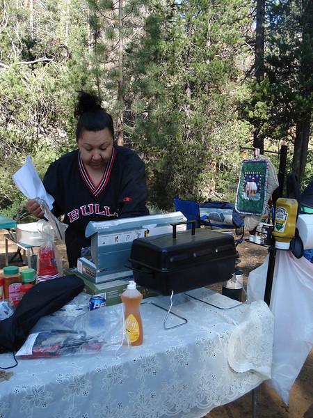 Veronica Cooking Breakfast