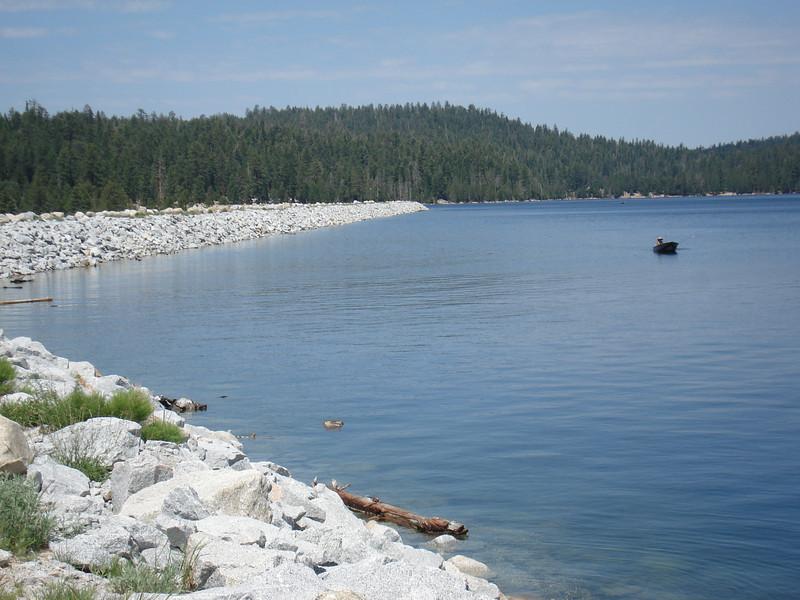 Boat Trolling near the dam