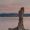 A tufa finger, in Mono Lake, points skyward at dawn.