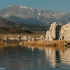 The east face of the sierras make an impressive background to Mono Lake.