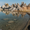 Reflections on the shore of Mono Lake.