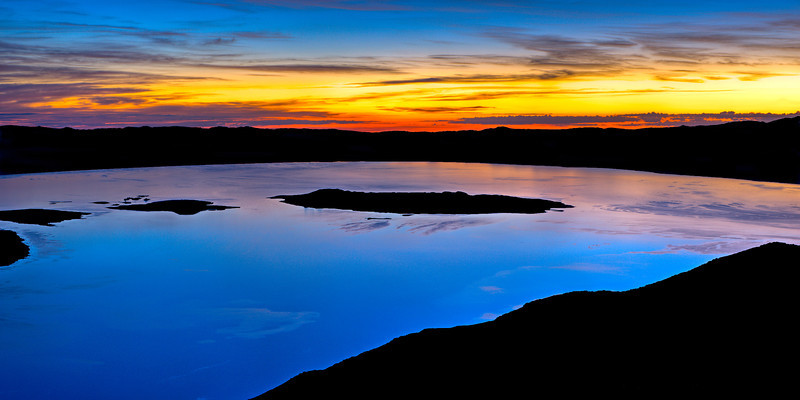 """Dawn High Above Mono Lake"""
