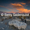 Sand Tufa Tops and Sunset, Mono Lake