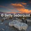Sand Tufa Tops and Sunset, Mono Lake
