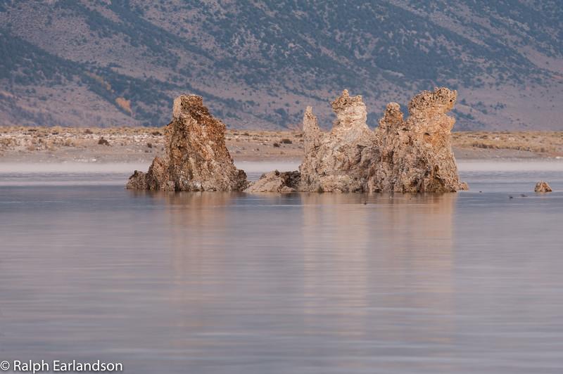 Tufa formations on Mono Lake in pre-dawn light.