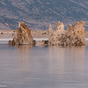 Tufa formations on Mono Lake in pre-dawn light.