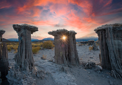 Sunset and Sand Tufas, Mono Lake