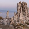 A tufa tower in Mono Lake's pre-dawn light.