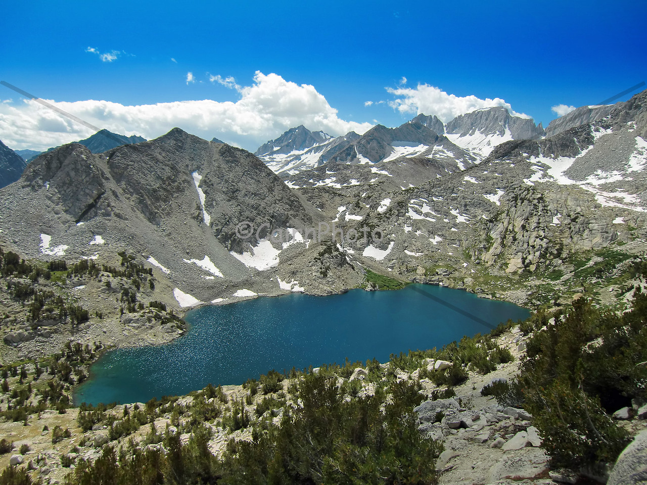 Ruby Lake, Mono Pass Trail.