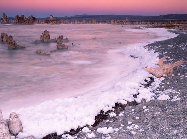 Sunset and Lake Foam, South Tufa Area, Mono Basin National Forest Scenic Area, CA