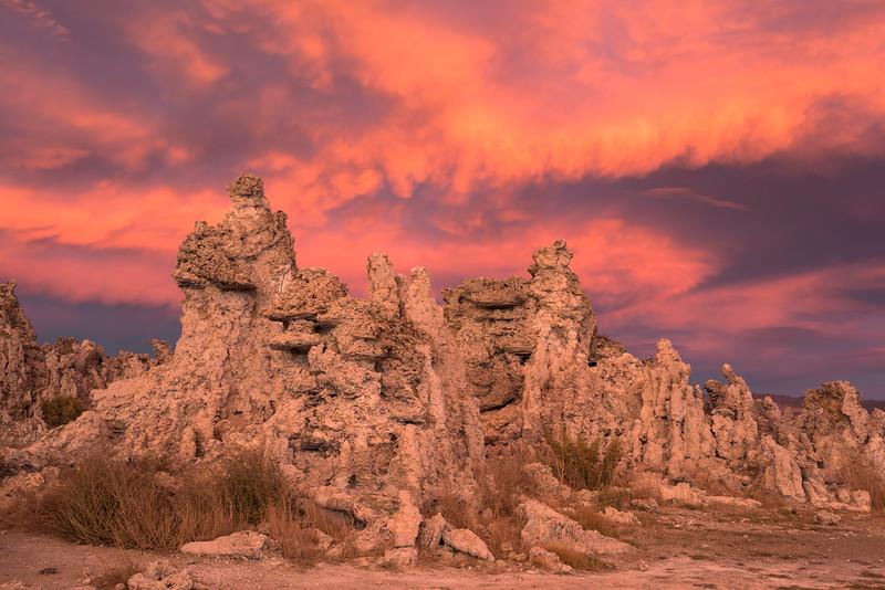 Eastern Sky at Sunset, Mono Lake South Tufa Area, CA