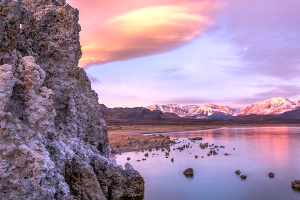 Early Light on the Sierra, from Mono Lake, CA