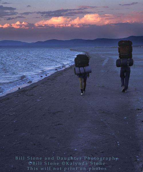 Hikers - South Shore Mono Lake