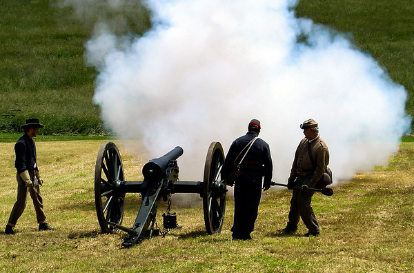 Civil War Re-Enactors, Monocacy National Battlefield, Maryland