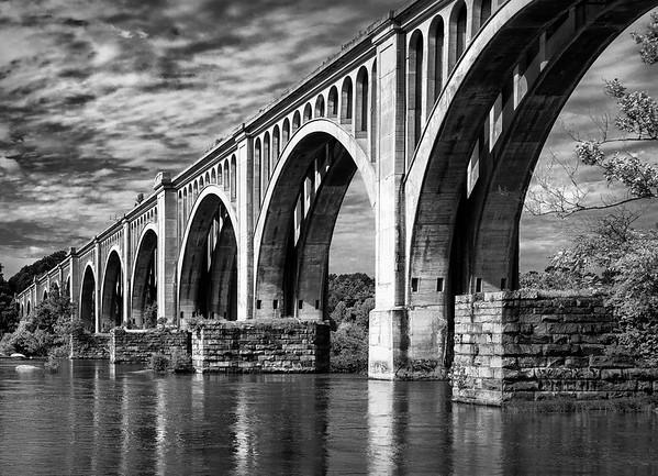 James River Railway Bridge - B&W