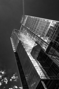 Glass and steel in black and white