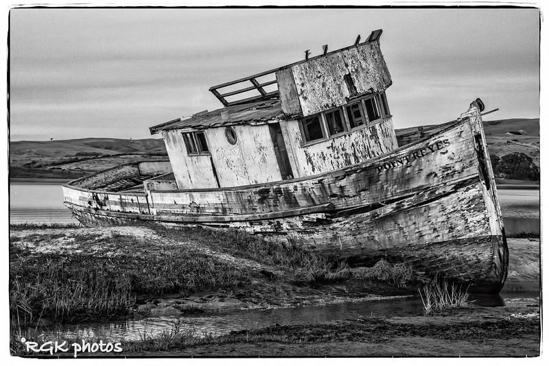 Point Reyes shipwreck,  Tomales Bay, California