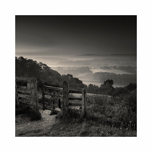 Early morning view from the edge of Ranmore Common, near Dorking, Surrey, UK