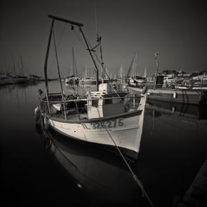 Fishing boat at Bandol Harbour, Cote d'Azur, France
