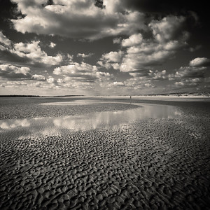 Beach at Camber Sands, East Sussex, England