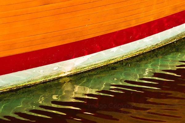 Abstract boat hull reflection