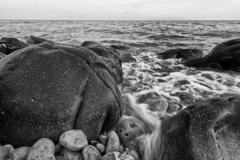 A slowish exposure of water and rocks in Dorset somewhere.