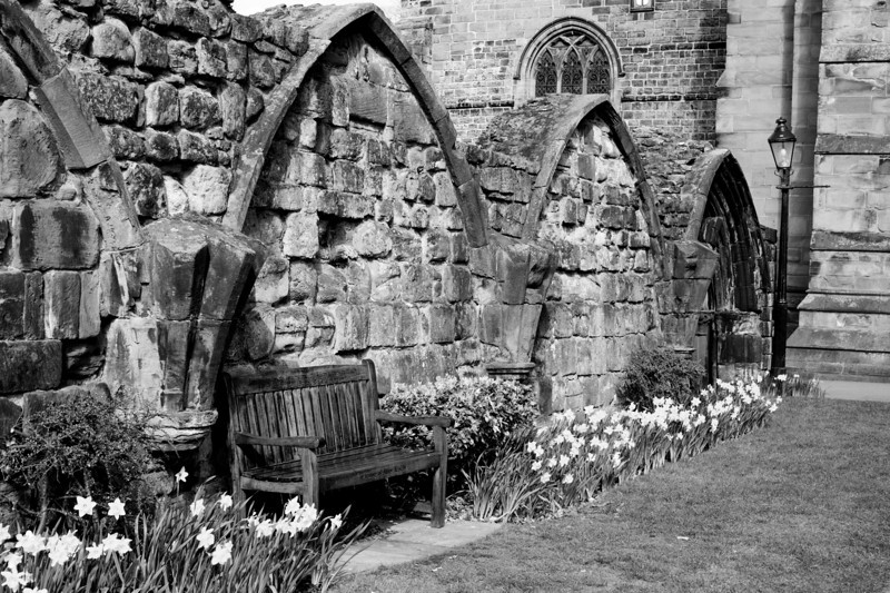 Carlisle Cathedral grounds, I love lonely seats