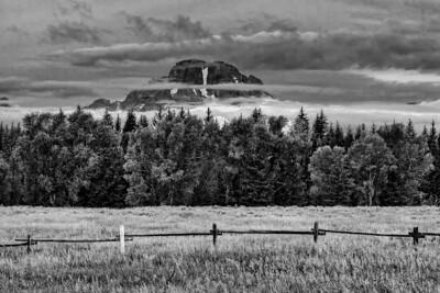 Mt. Moran through the mist.