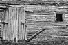 Old wooden barn - monochrome